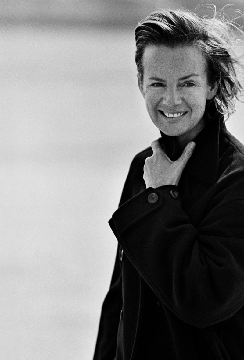 Designer Jil Sander photographed by Peter Lindbergh | Photo Credit: UNIQLO
