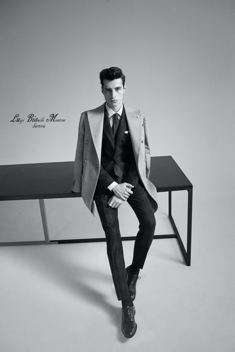 Luigi Bianchi Mantova enlists model Adrien Sahores as the face of its fall-winter 2020 collection.