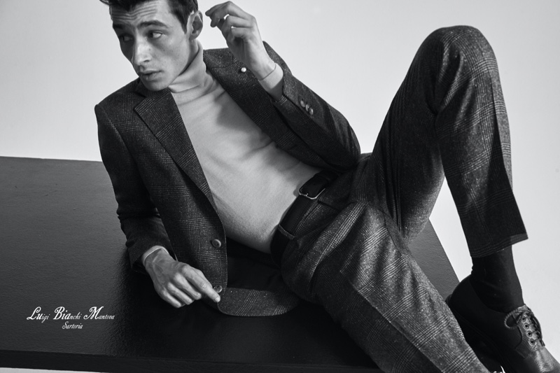 Suiting up for the season, Adrien Sahores wears Luigi Bianchi Mantova.