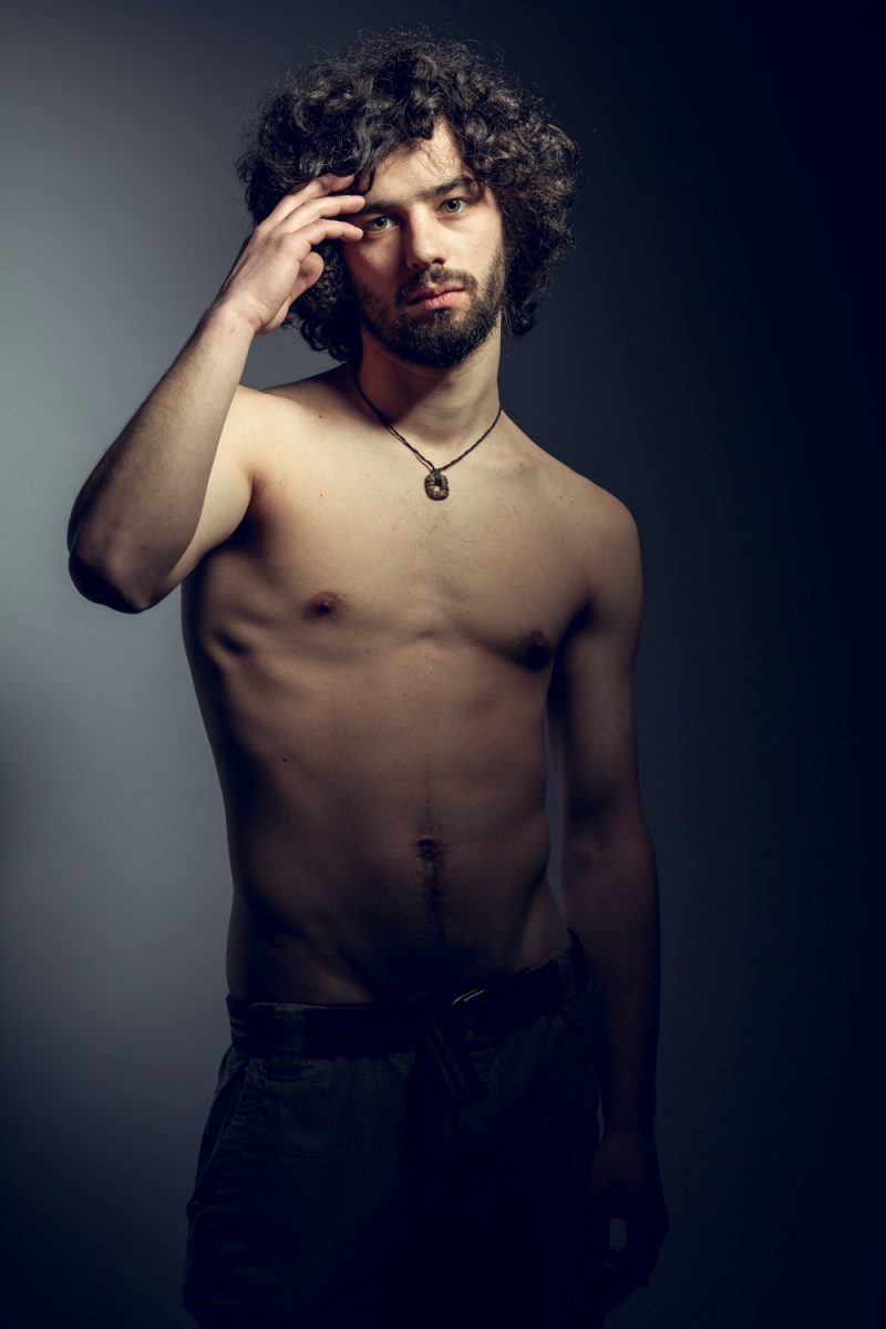 Male Model Curly Hair