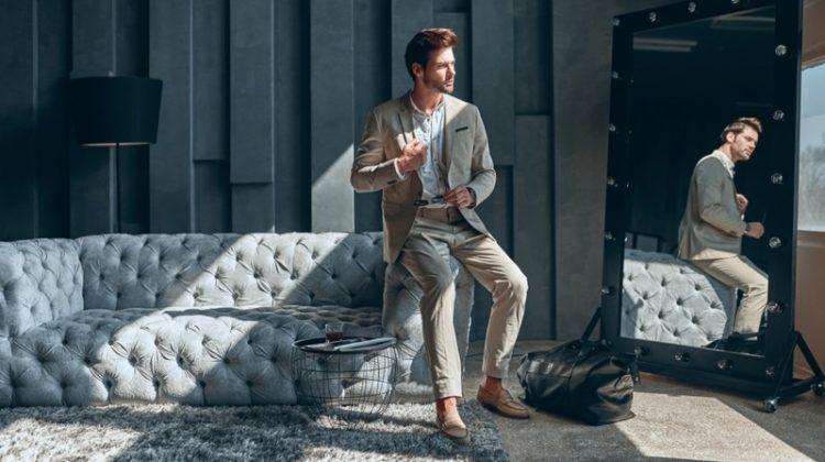 Male Model Sun Room Home Decor Suit Mirror