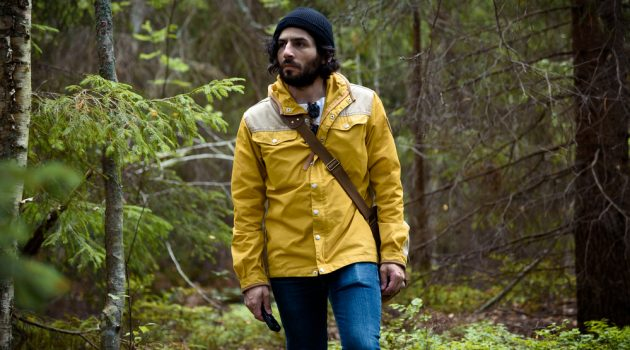 Man in Yellow Jacket and Beanie Woods