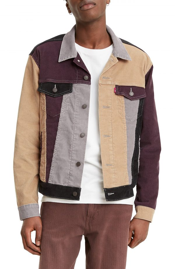 Men's Levis Colorblock Corduroy Trucker Jacket, Size Medium R - None