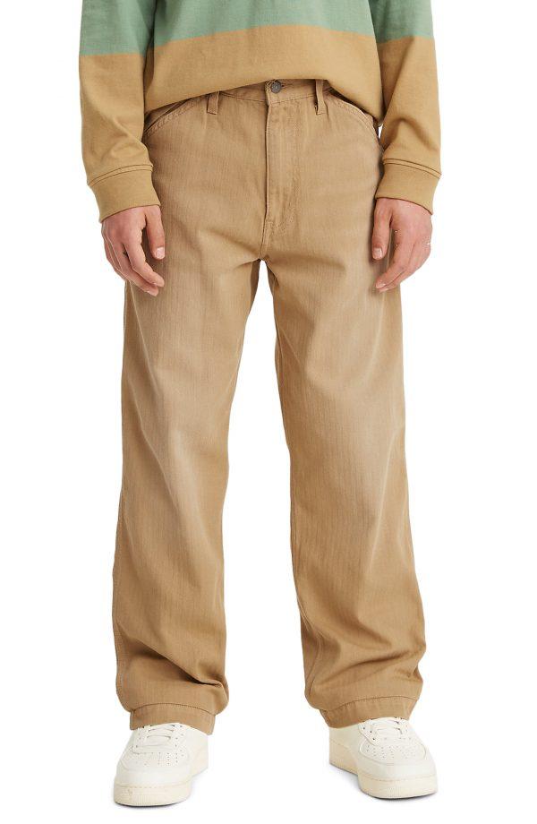 Men's Levi's Stay Loose Carpenter Pants, Size 31 x 32 - Brown