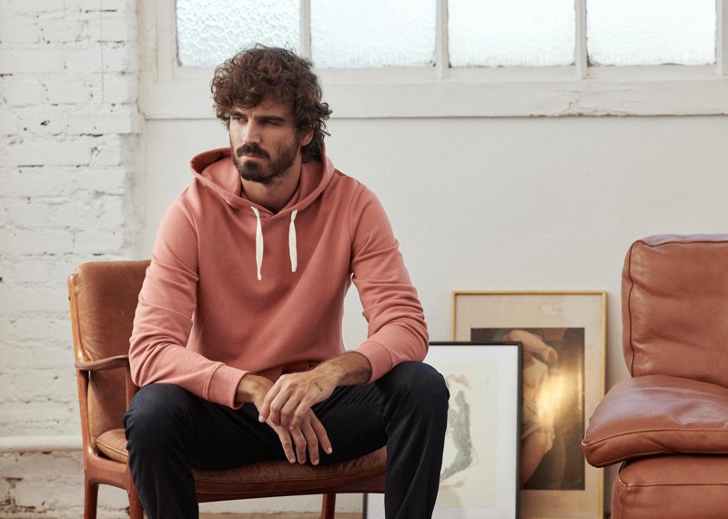 Nono Marquis embraces comfort and style in menswear by Octobre.