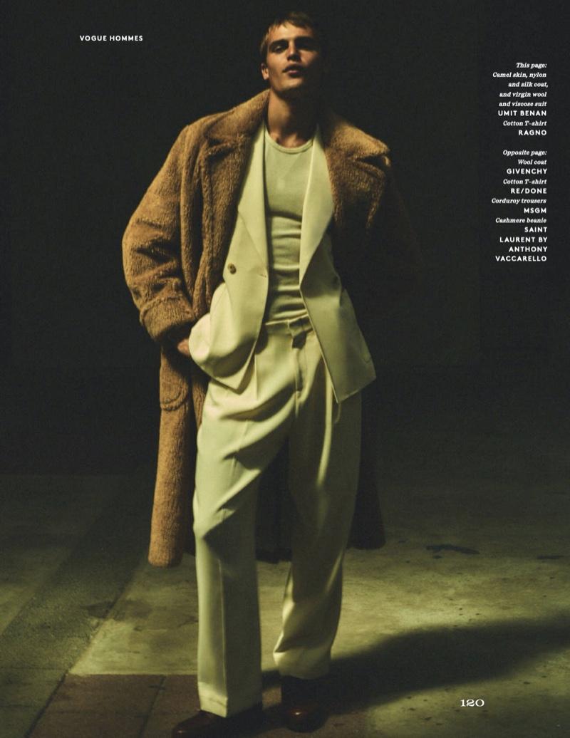 Parker Channels Retro Charm for Vogue Hommes Paris