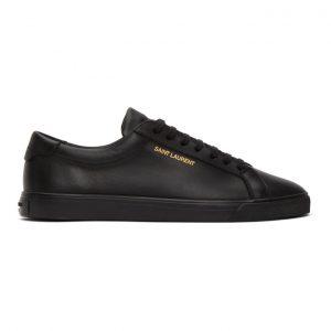Saint Laurent Black Calfskin Andy Sneakers