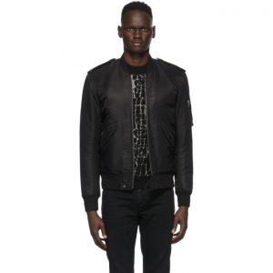Saint Laurent Black Classic Bomber Jacket