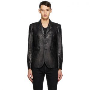 Saint Laurent Black Leather Blazer