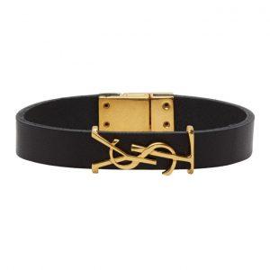 Saint Laurent Black and Gold Opyum Bracelet