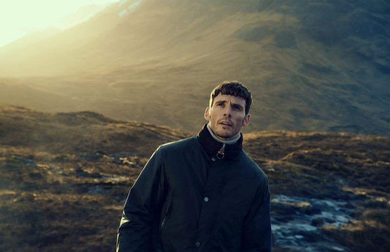 Sam Claflin Travels to Scotland for Barbour Gold Standard Fall '20 Campaign