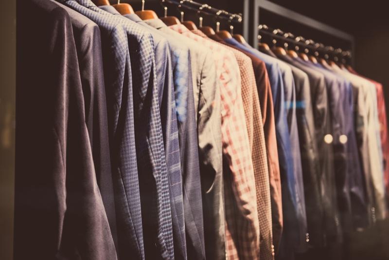 Selection Men's Clothing Store Rack Hangers