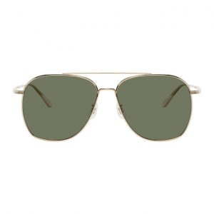 The Row Silver and Grey Ellerston Sunglasses