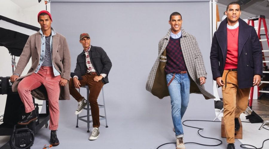 Outerwear is perhaps one of the most important fall essentials and Todd Snyder has you covered. Left to Right: Vitor wears a Todd Snyder Italian bouclé double-breasted topcoat, Italian bouclé knit chore coat, Private White + Todd Snyder oversized houndstooth topcoat, and Manchester wool cashmere peacoat.