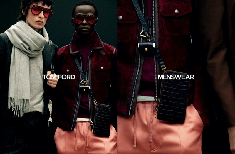 Joel Dent and Malick Bodian star in Tom Ford's fall-winter 2020 men's campaign.