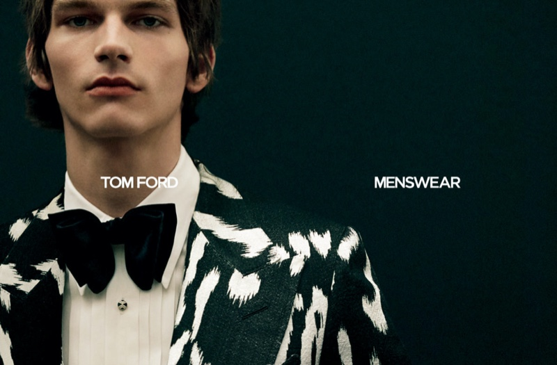 Erik van Gils fronts Tom Ford's fall-winter 2020 men's campaign.