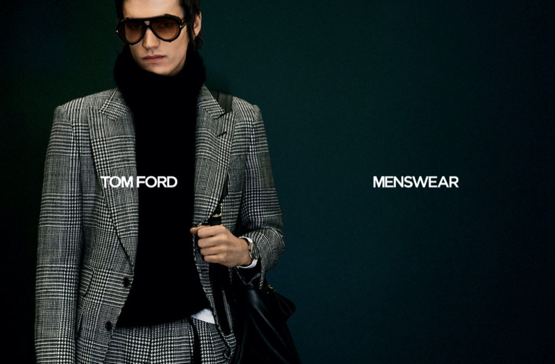 Elias de Poot reunites with Tom Ford for its fall-winter 2020 men's campaign.
