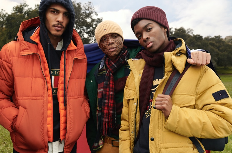Geron McKinley, Ralph Souffrant, and Alton Mason front Tommy Hilfiger's fall-winter 2020 campaign.