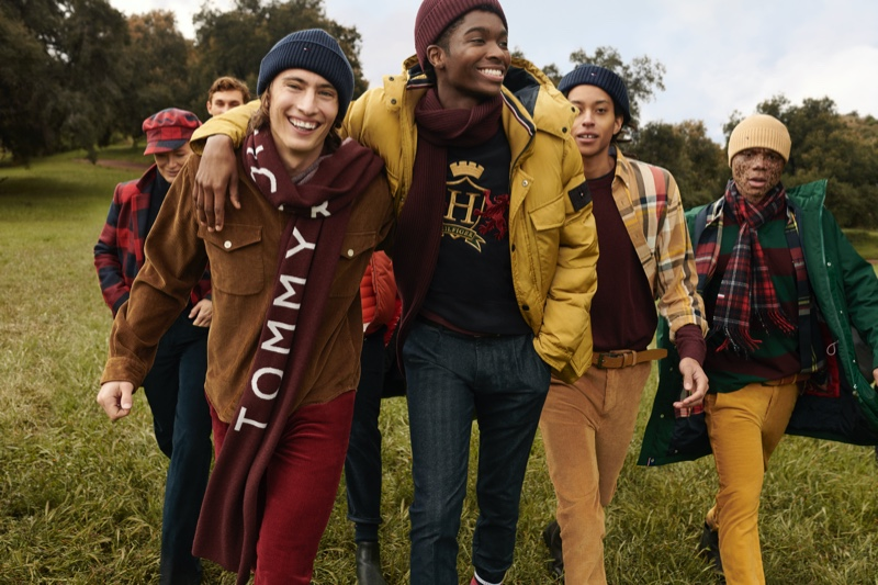 Carolyn Murphy, Kit Butler, James Turlington, Alton Mason, Kendall Harrison, and Ralph Souffrant appear in Tommy Hilfiger's fall-winter 2020 campaign.