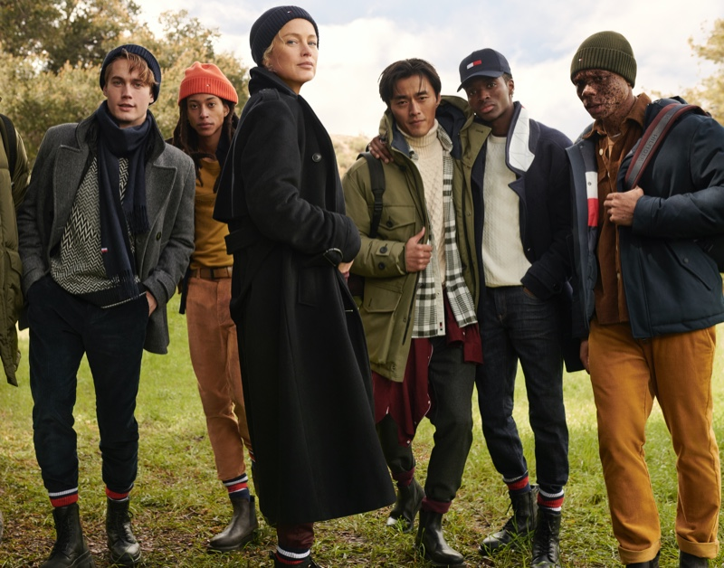Neels Visser, Kendall Harrison, Carolyn Murphy, Zhao Lei, Alton Mason, and Ralph Souffrant front Tommy Hilfiger's fall-winter 2020 campaign.