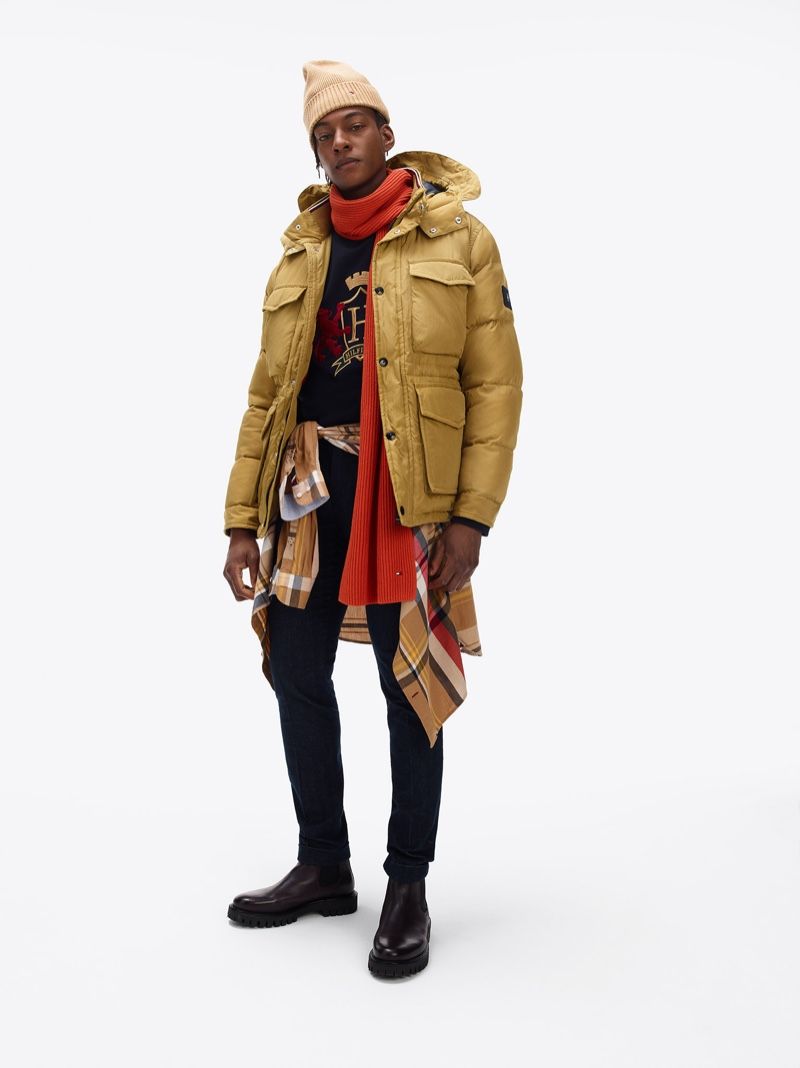 Ty Ogunkoya links up with Tommy Hilfiger to star in the brand's fall-winter 2020 lookbook.
