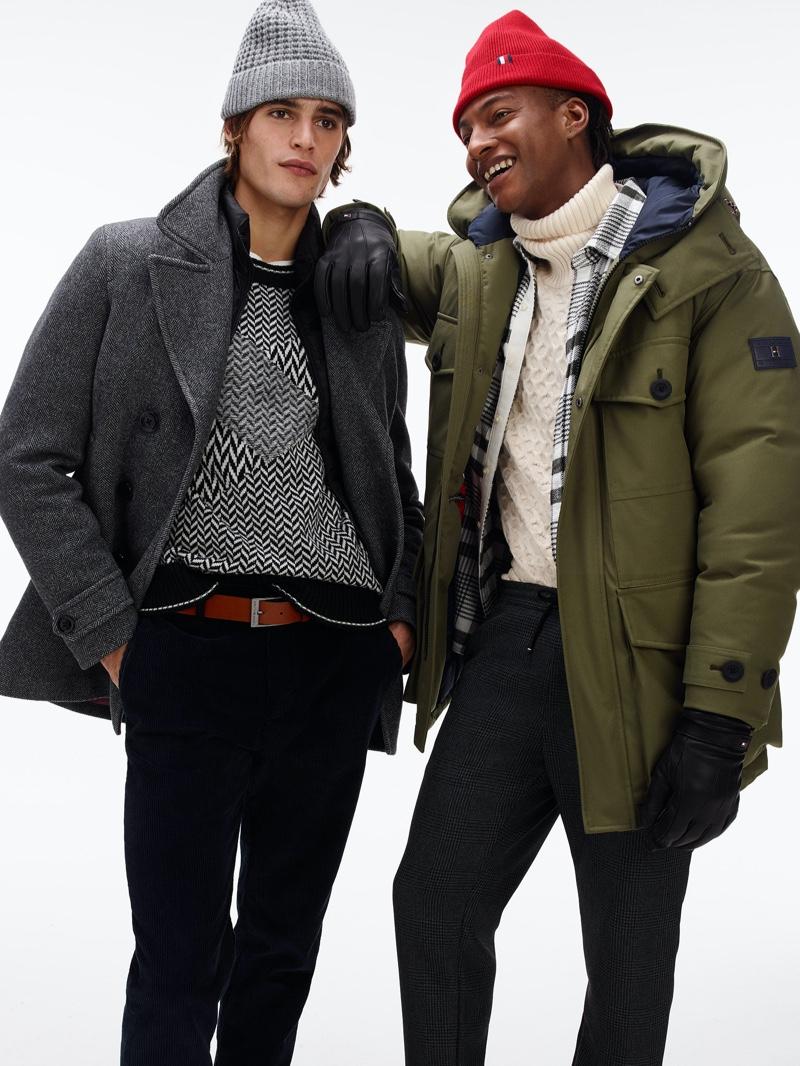 Models Parker van Noord and Ty Ogunkoya come together for Tommy Hilfiger's fall-winter 2020 lookbook.