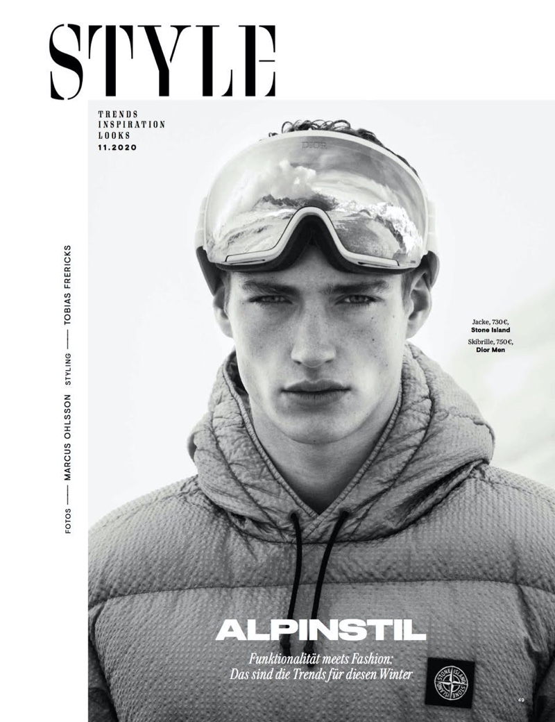 Valentin Tackles Alpine Style for GQ Germany