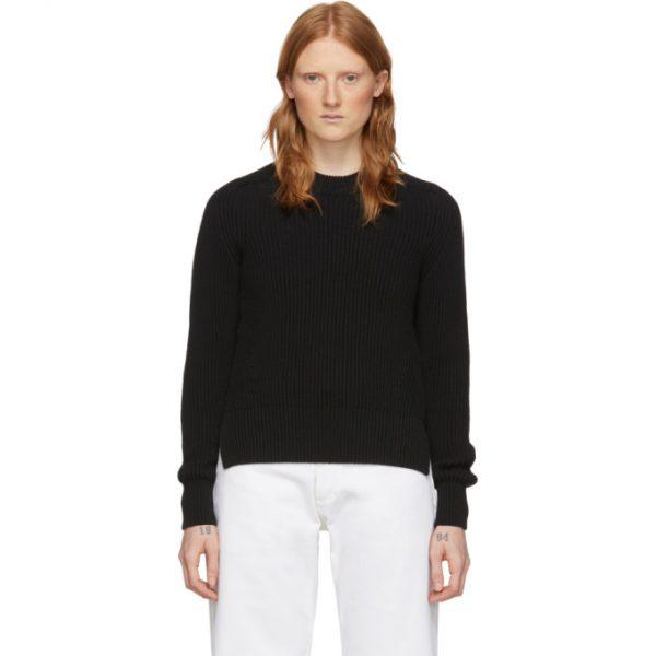 AMI Alexandre Mattiussi Black Hammer Sleeves Sweater