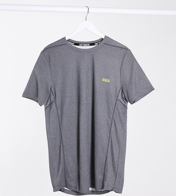 ASOS 4505 Tall training t-shirt with quick dry in gray marl