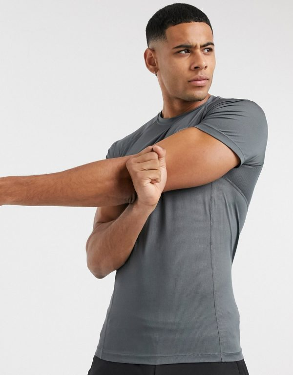 ASOS 4505 icon muscle training T-shirt with quick dry in gray