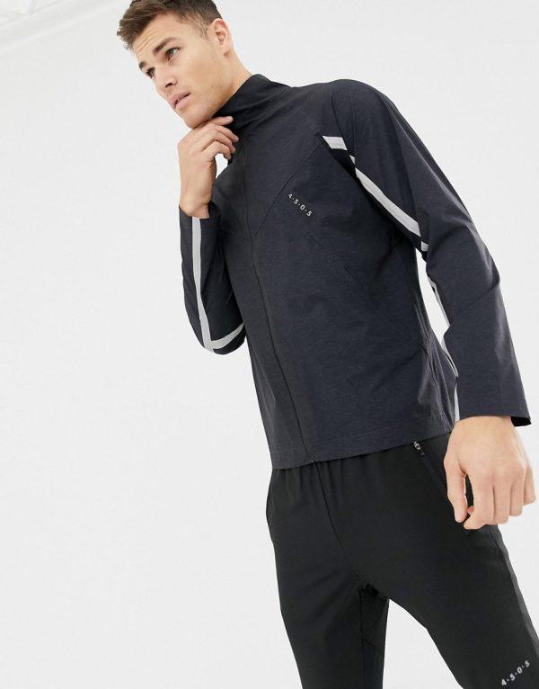 ASOS 4505 jacket with reflective taping-Gray