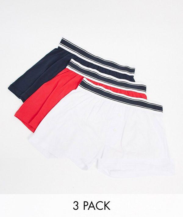 ASOS DESIGN 3 pack boxers in sports colors-Multi