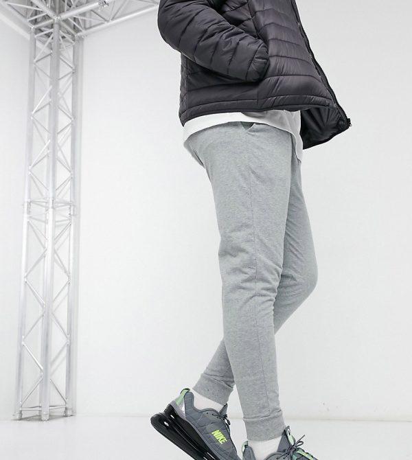 ASOS DESIGN Plus lightweight skinny sweatpants in gray marl