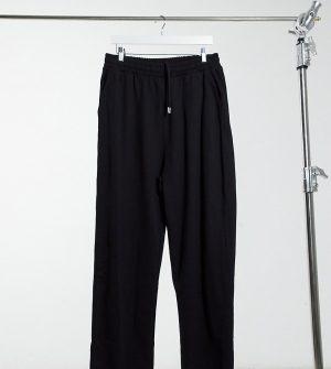 ASOS DESIGN Tall organic super oversized sweatpants in black with toggle hem