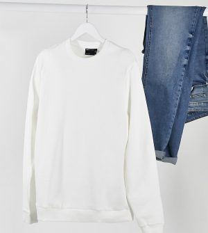 ASOS DESIGN Tall organic sweatshirt in white