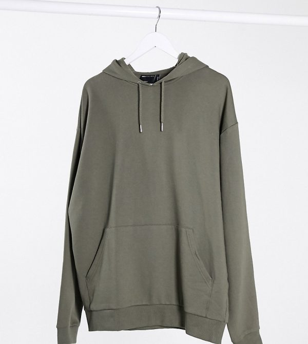 ASOS DESIGN Tall oversized hoodie in khaki-Green
