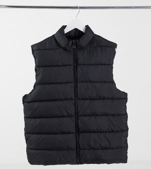 ASOS DESIGN Tall puffer vest in black