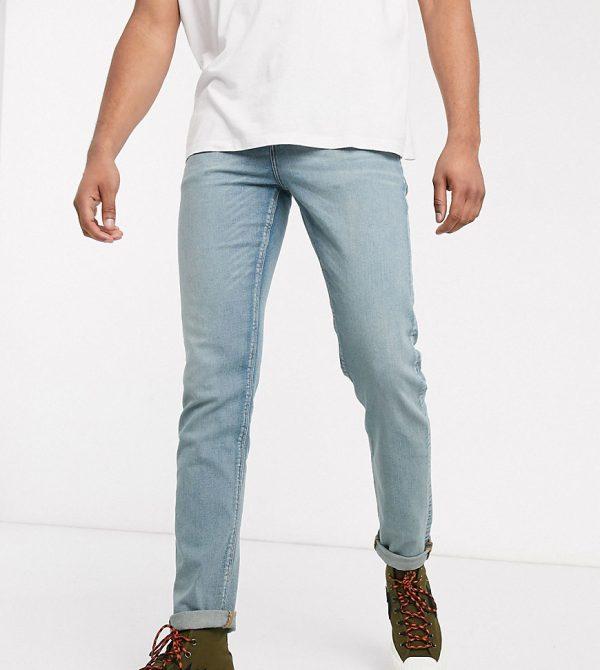 ASOS DESIGN Tall slim jeans in light wash blue