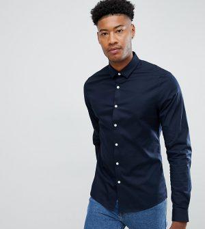 ASOS DESIGN Tall slim shirt in navy