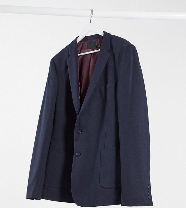 ASOS DESIGN Tall super skinny jersey blazer in navy