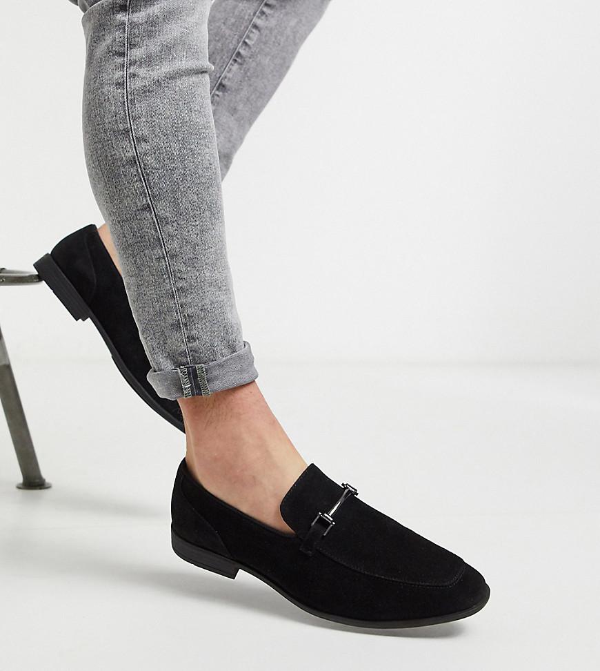 ASOS DESIGN Wide Fit loafers in black