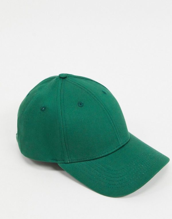 ASOS DESIGN baseball cap in green