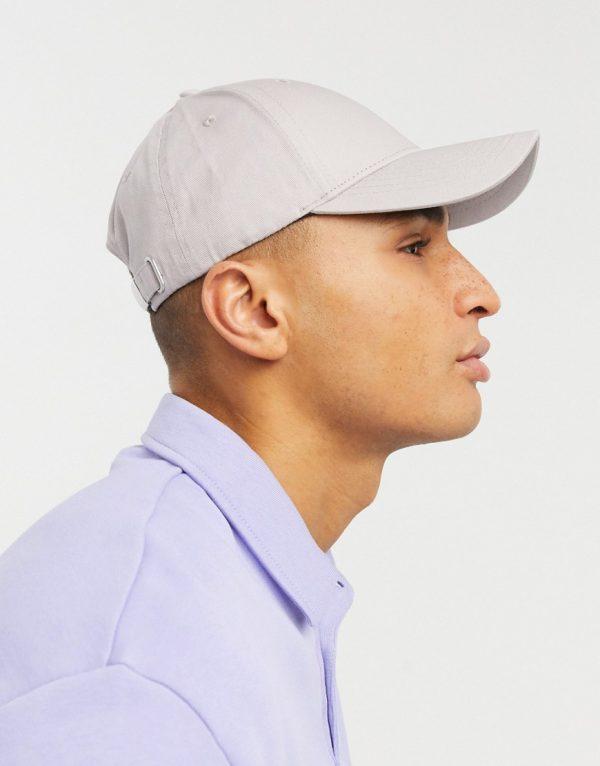 ASOS DESIGN baseball cap in ice gray-Grey