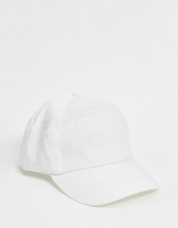 ASOS DESIGN baseball cap in white canvas