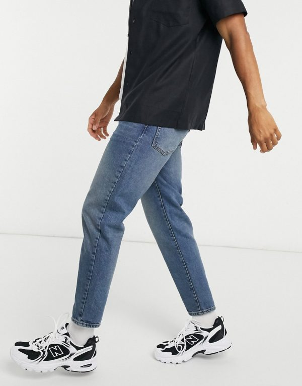 ASOS DESIGN classic rigid jeans in vintage dirty wash blue
