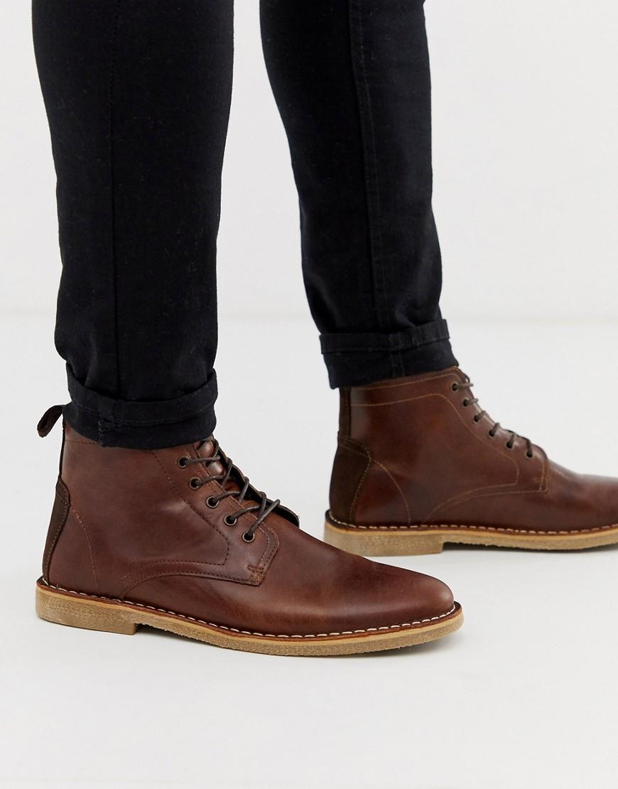 ASOS DESIGN desert chukka boots in tan