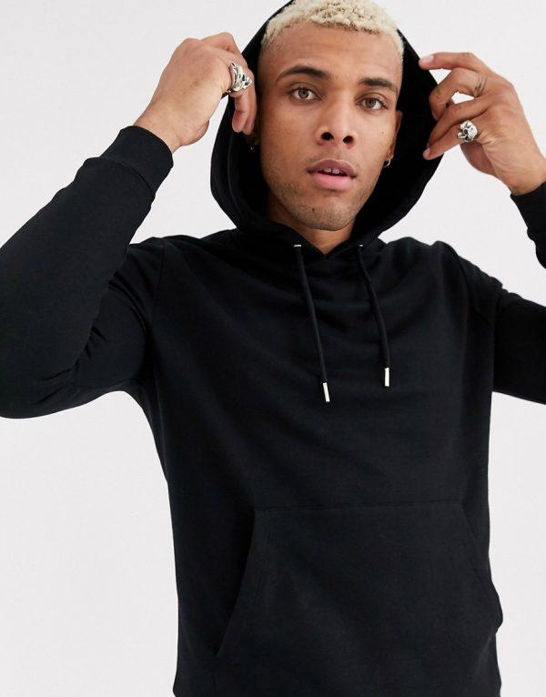 ASOS DESIGN organic hoodie in black
