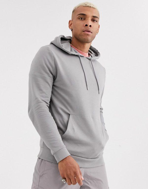 ASOS DESIGN organic hoodie in gray