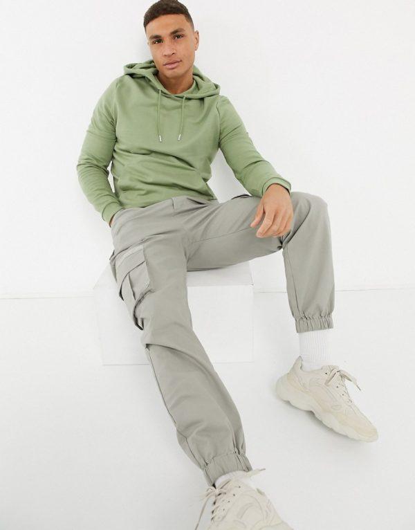 ASOS DESIGN organic hoodie in green