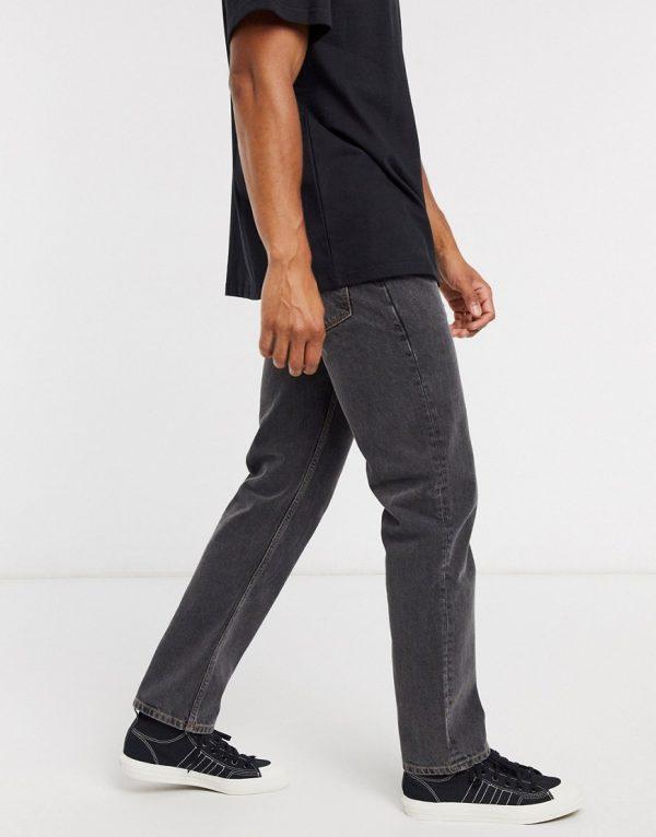 ASOS DESIGN original fit jeans in washed black